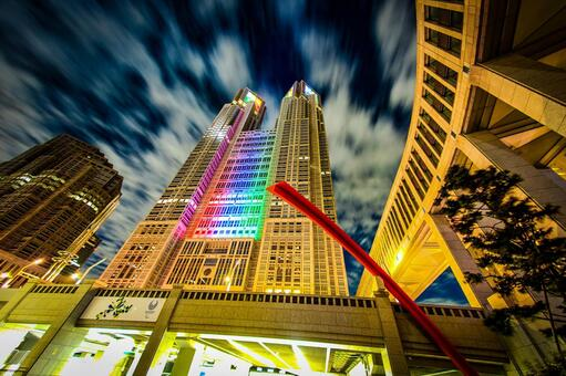 Tokyo Metropolitan Government Office (Olympic · Paralympic Color Light Up) 15