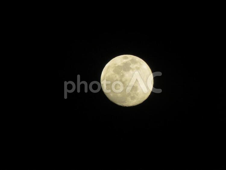 八十八夜の月の写真