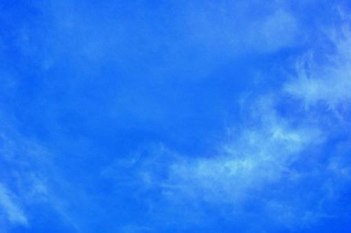 Blue sky and white clouds (wallpaper free free material background) Photo 01