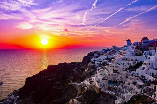 The beautiful sunset in the world