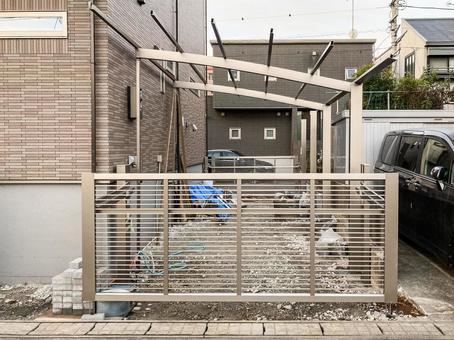 Newly built detached carport installation work