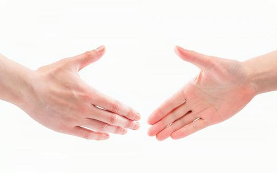 Hands to shake hands, greetings, friendships, friendships (cutout PSD material)
