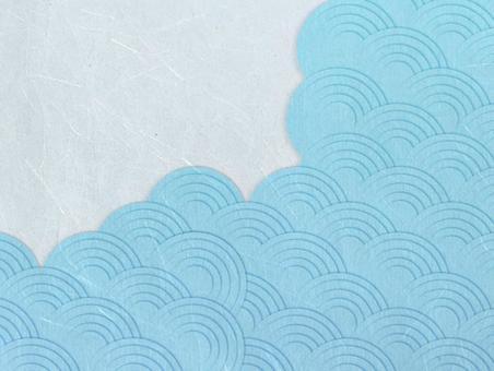 Summery Qinghai wave craft Japanese paper