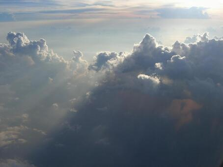 Aerial view of the clouds 007