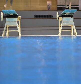Pool water diving board