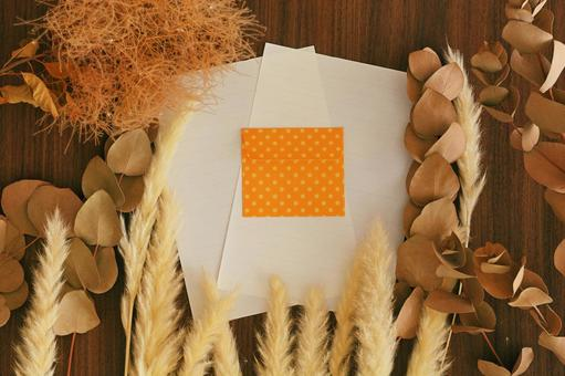 Letter set and autumn atmosphere