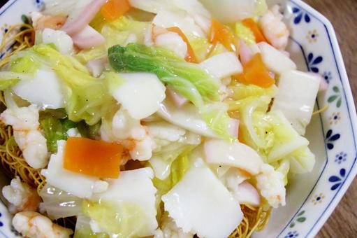 Seafood squid crab Kayakyakoba 2