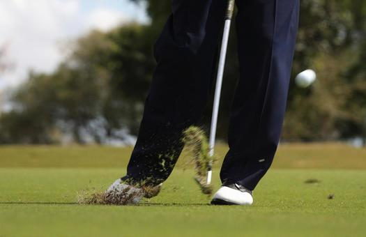 Golf, iron shots, moments of impact