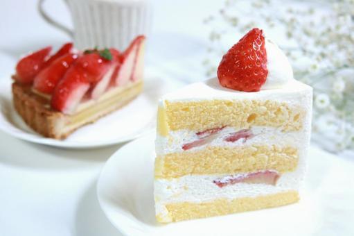 Shortcake Fruit cake Strawberry tart cake
