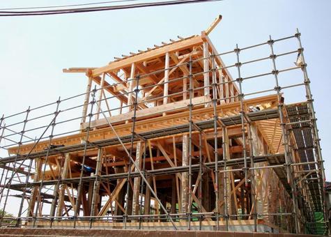 목조 주택 건설 현장 1