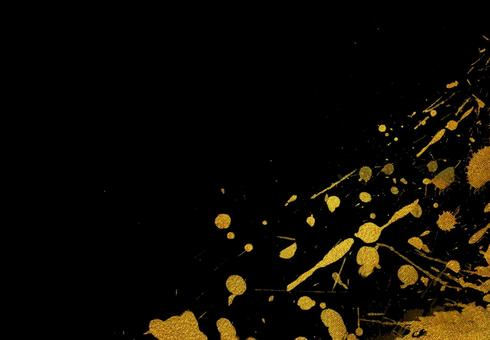 黑色和金色背景圖片日式素材