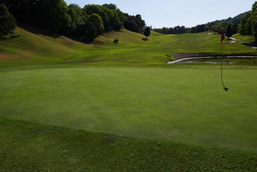 Golf course putting green