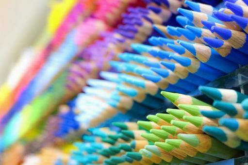 彩色的铅笔想法个性