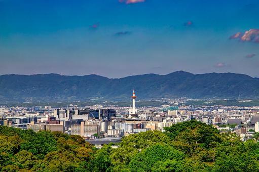 京都城市景觀從清水寺的視圖