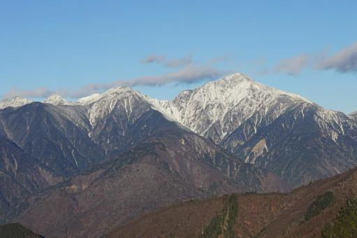 The direction of Mt. Hijiri seen from near Kuronagi