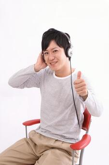 Male listening to music 9