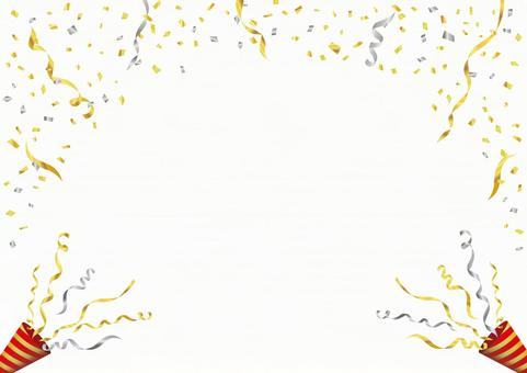 Gold confetti and crackers