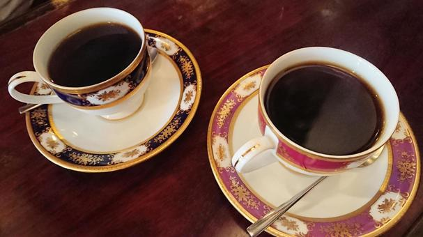 Coffee time tea time pair cup