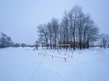 공원의 겨울 풍경