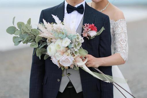 自然婚禮海灘婚禮照片
