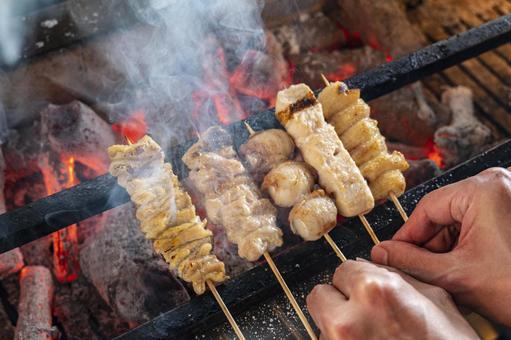 Yakitori charcoal grill