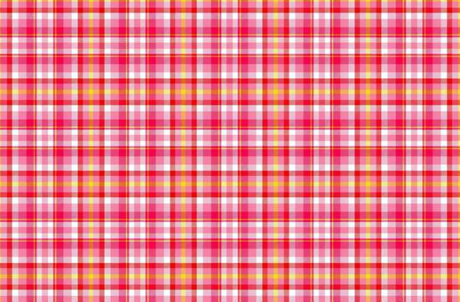 Pink and red tartan plaid