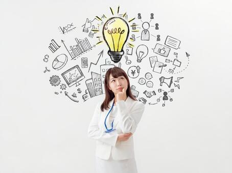 Image of career woman and idea