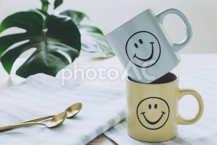 にこにこマグカップの写真