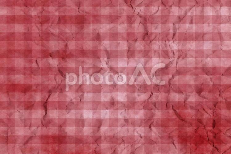 しわのある和紙 彩雲 ギンガムチェック柄 ちぢれ 凸凹 テクスチャ 44の写真