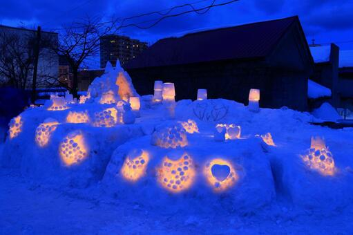 Otaru snow light path (magic time) 6