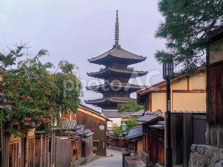 京都 八坂の塔よくある景色の写真