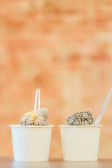 Sesame ice cream ②