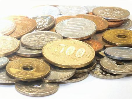 Japanese coins (free free material photo)