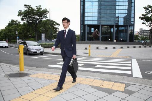 Walking businessman 7