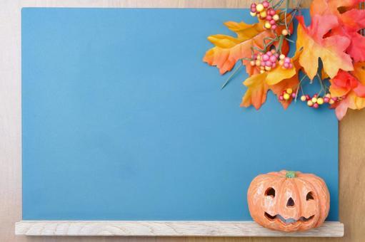 October blackboard frame