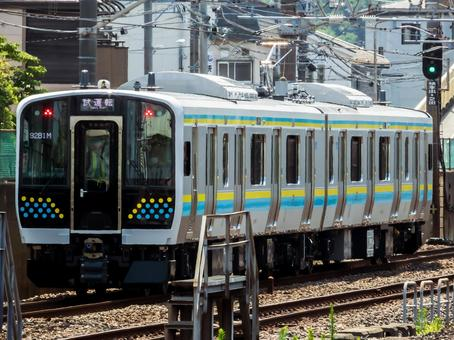 8/3 New car of each Boso line, E131 series R01 formation Sotobo line performance confirmation test run