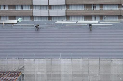 Construction work roof construction