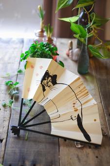 Handmade folding fan