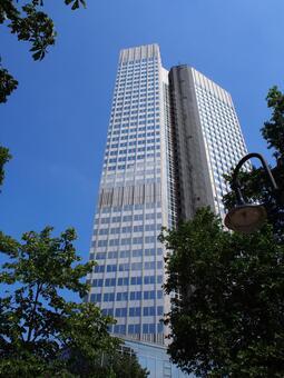 독일 프랑크푸르트의 고층 빌딩