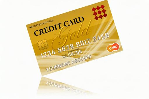 Credit card reflection white background