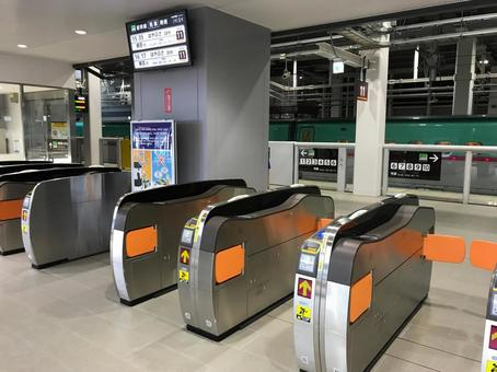 Shin-Hakodate Hokuto Station transfer ticket gate
