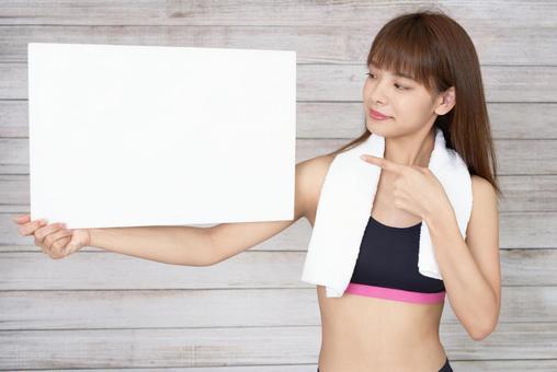 Women Exercise Whiteboard