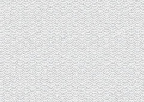 Chirimen Qinghai wave pattern (gray)