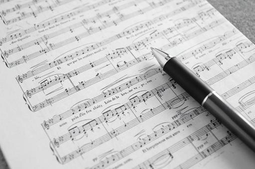 Music score monochrome