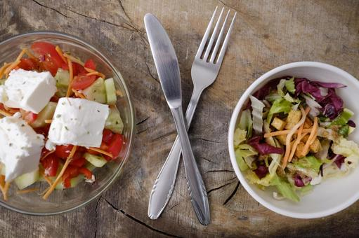 Two kinds of salad 5