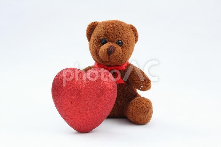 バレンタインテティベアとチョコレート2の写真