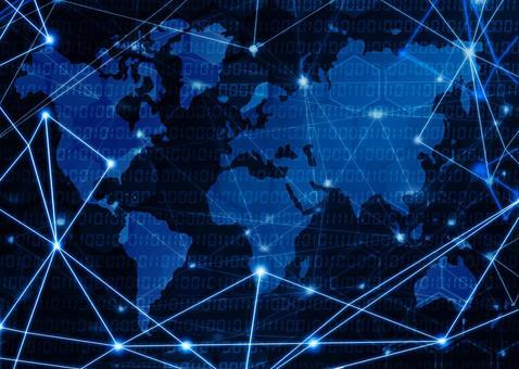 Image of communication / network World map