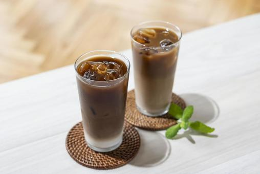 Ice cafe latte ice coffee