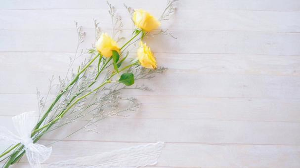 Yellow rose wood grain background 16: 9