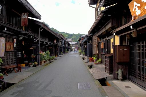 Townscape of Takayama in the early morning